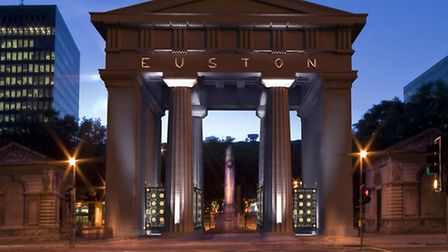 How a restored Euston Arch might look at night