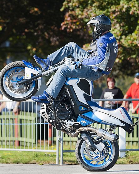 Mattie Smith, one of the highlights of the 24th Copdock Classic Motorcycle Show. Photo Christine Hart