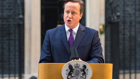 Prime Minister David Cameron speaks to the media outside 10 Downing Street after the Scottish referendum result - was he...