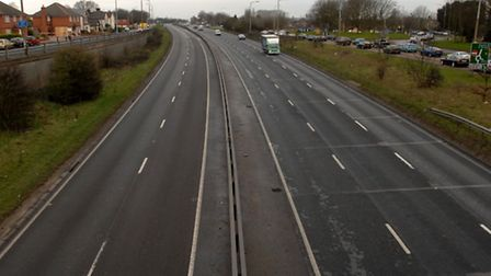 A car has broken down on the A12 southbound.