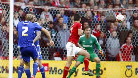 Ipswich's Jonathan Parr scores with volley at Nottingham Forest
