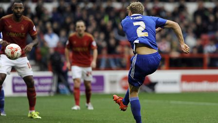 Jonathan Parr scores for Ipswich with a second half volley