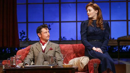 Olivia Hallinan and Leon Ockenden in Terence Rattigan's wartime drama Flare Path which is having a revival at the New...