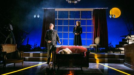 The Original Theatre Company's 2015 touring production of Terence Rattigan's Flare Path. Philip Franks and Olivia Hallinan.