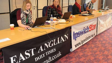 Suffolk Skills Show 2015 at Trinity Park, Ipswich. Archant's stand