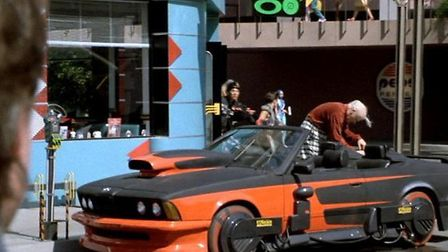 A scene from Back to the Future II
