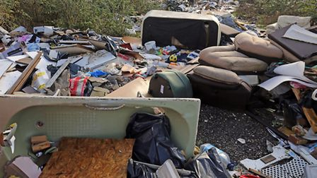An illegal fly tip site. Photo: Chris Radburn/PA Wire