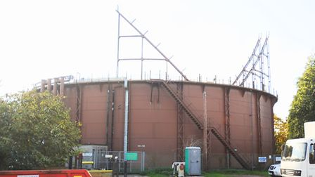 Gas holder is to be dismantled on Tayfen Road, Bury St Edmunds.
