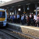 Commuters waiting for a train on the c2c line. Photo: PA WIRE/Nick Ansell