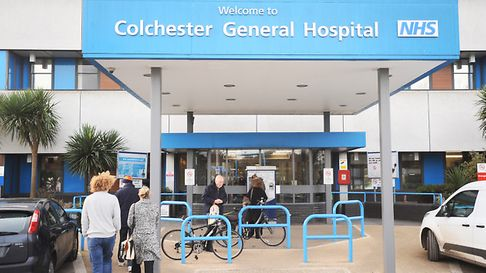 Press conference on Care Quality Commission at Colchester Hospital.