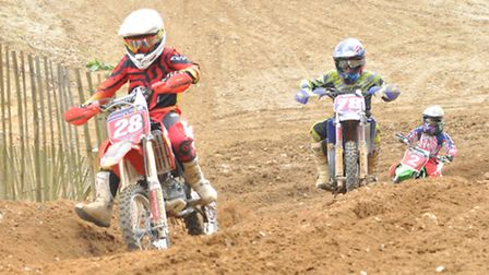 Action from the Norfolk & Suffolk Junior Motorcycle Club Easter weekend meeting at Great Hockham - p
