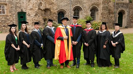 Graduates with distinctions. Picture: KEITH MINDHAM