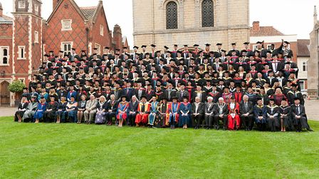 All of the University of Suffolk graduates together. Picture: KEITH MINDHAM