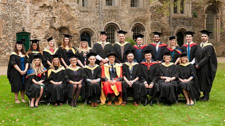 Graduates with Firsts. Picture: KEITH MINDHAM