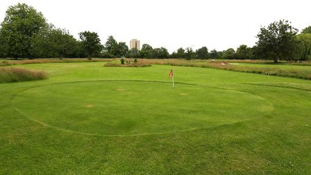 The putting green in Central Park, which would be extended under the plans. Picture: Paul Bennett