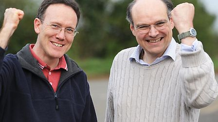 Anti-Incinerator campaigners (L) Mike Knights and Michael de Whalley. Picture: Ian Burt