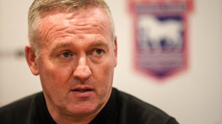 Town manager Paul Lambert pictured during his post match press conference. Picture Steve Waller www.stephenwaller.com