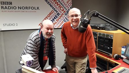 Skip and Teatime Show host Matthew Gudgin get set for another monthly mardle on BBC Radio Norfolk