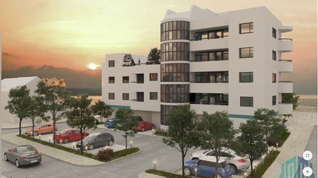 Artist's impressions of the proposed development on the former Kit Kat site in Hunstanton. Picture:
