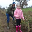 David and Sophie Kruger helped to plant 1,000 trees atBeckhithe Meadow County Wildlife, north of Hethersett.