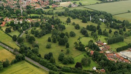Heacham Park, pictured from the air by Mike Page.