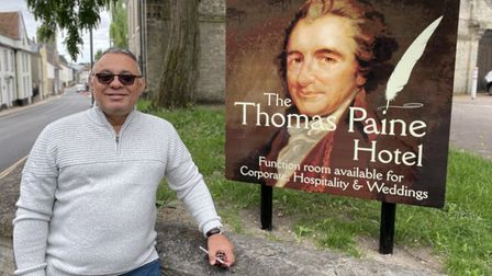 Gez Chetal owner of the Thomas Paine Hotel in Thetford.