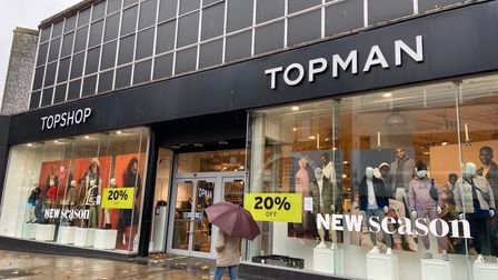 Topshop and Topman in Norwich owned by Arcadia which is expected to collapse today. Picture: Ella Wi