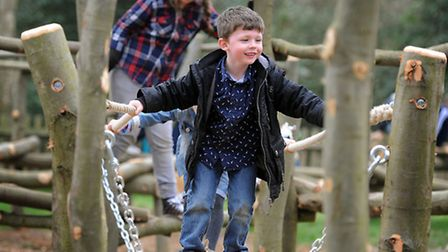 Children from Sandringham and West Newton Primary School have tested out the new play area in the wo