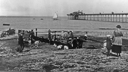 Archive picture of visitors to Hunstanton pier on the Norfolk coast.