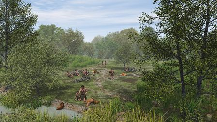 An artist's impression of what Doggerland could have looked like in the Mesolithic period