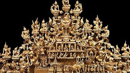 Monumental pediment sculpture likely to have come from the Mandalay Palace complex; Photo credit: Su