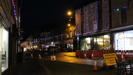 North Walsham Christmas lights were switched on last weekend.