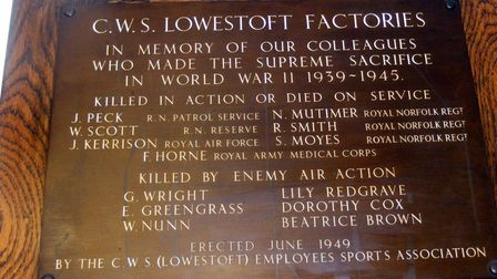 The names of the CWS employees killed in the raid are on the Memorial Honour Board.