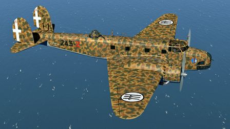A Fiat BR.20 bomber of the type which bombed Lowestoft on November 29 1940.