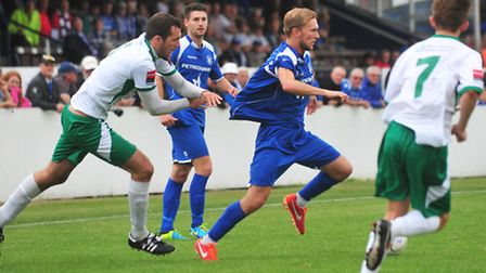 Ryman League Football action from Crown Meadow between Lowestoft Town and Bognor Regis earlier this