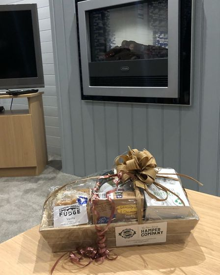 A welcome hamper left in the lounge of the lodge Picture: NATALIE SADLER