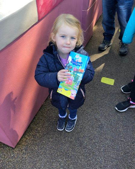 Having fun on the day out at Peppa Pig World Picture: NATALIE SADLER