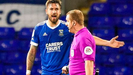 Skipper Luke Chambers appeals to the referee after Hulls second goal.Picture: Steve Wallerwww.stephenwaller.com