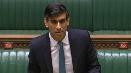 Chancellor of the Exchequer Rishi Sunak delivering his bleak assessment of the state of the UK economy Picture: PA WIRE