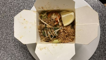 Pad Thai comes in a carton for that authentic street-food vibe
