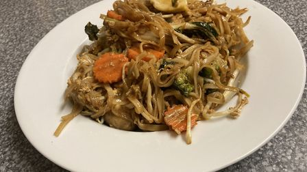 Don't judge the restaurant on the reviewer's messy plating of the Pad Thai. It was delicious