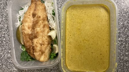 Fish and noodles in one container, sauce in another: how to do Laksaa as a takeaway