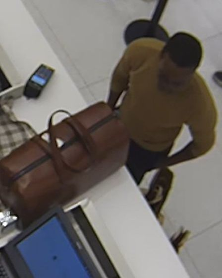 Chipunza captured on CCTV on his Westfield Shopping Centre spending spree in Stratford. Picture: ESSEX POLICE