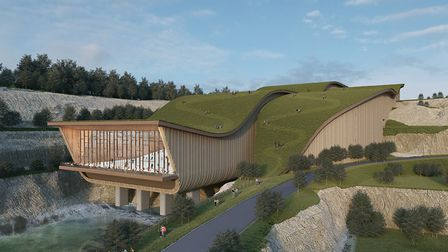 An artists' impression of a ski slope at the Valley Ridge resort, formerly known as SnOasis, in Great Blakenham Picture...