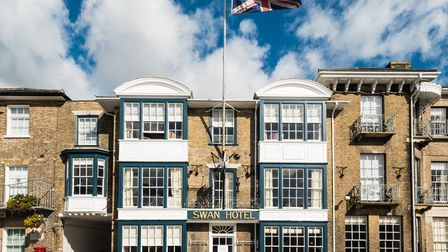 The Swan Hotel in Southwold which has been awarded four red stars by AA inspectors Picture: ADNAMS