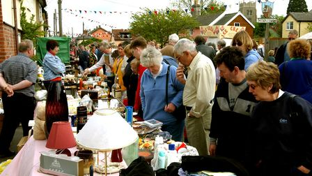 Crowds flock to Mendlesham May Street Fair in 2003 Picture: ANDY ABBOTT/ARCHANT