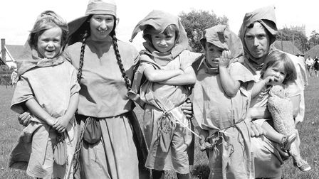 In costume for Mendlesham Street Fair in 1985 Picture: ARCHANT