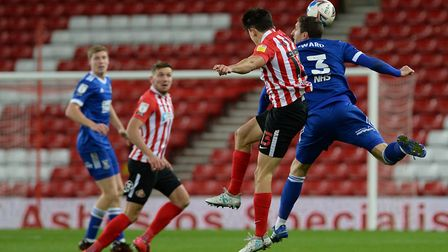 Stephen Ward gets up high for the ball at Sunderland Picture Pagepix Ltd