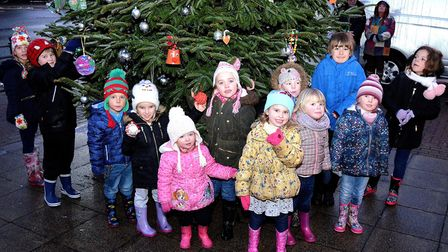 In 2017, the Christmas tree returned to Pakefield with local schoolchildren involved in decorating it. Pictures: Mick Howes