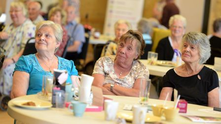 People enjoying a catch up at the chinwag events last year Picture: SARAH LUCY BROWN
